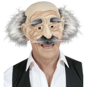 Λάτεξ Αποκριάτικη Μάσκα Γέρος Με Φρύδια ,Μουστάκι Και Μαλλί