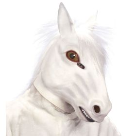 Λευκή Λάτεξ Αποκριάτικη Μάσκα Αλόγου