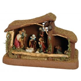 SYNTHETIC CHRISTMAS manger 55 x 28 x 30 (h) cm