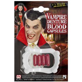 Αποκριάτικα Δόντια Δράκουλα Με Αίμα