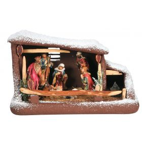 CHRISTMAS SYNTHETIC manger POLYSTYRENE 55 x 28 x 34 (h) cm