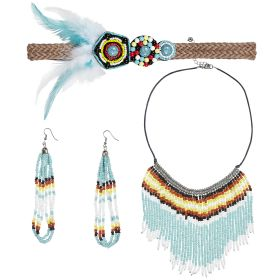 Carnival Set Female Indian (Headband,Earrings And Necklace)