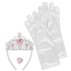 Παιδικό Αποκριάτικο Σέτ Πριγκίπισσας (Γάντια ,Τιάρα Και Δαχτυλίδι)