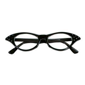 Μάυρα Αποκριάτικα Γυαλιά 50s Με Στράς