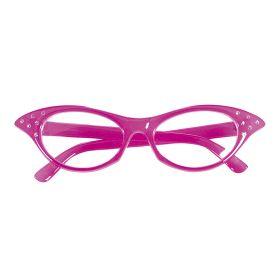 Ρόζ Αποκριάτικα Γυαλιά 50s Με Στράς