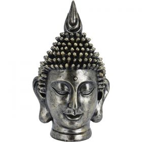 Διακοσμητικό Κεφάλι Βούδας Polystone 14 x 13 x 24(h)cm