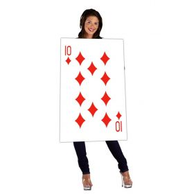 Halloween Costume Playing Card 10 Checkered