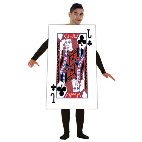 Halloween Costume Playing Card Jack of Clubs