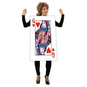Halloween Costume Queen of Hearts Playing Card