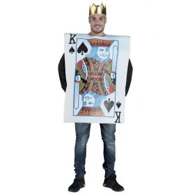 Halloween Costume Playing Card King of Spades