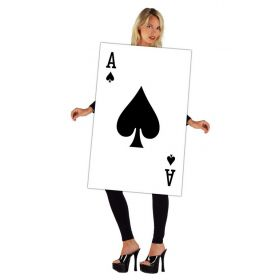 Halloween Costume Playing Card Ace of Spades