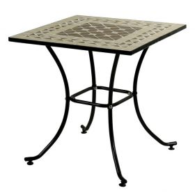 Square Metal Table Mosaic 70 x 70cm