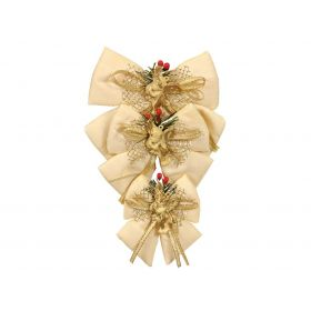 Christmas bow 13cm,SET OF 3 PIECES