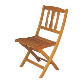 Ξύλινη Χαμηλόπλατη Πτυσσόμενη Καρέκλα ,Yellow Balau