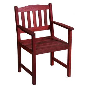 Ξύλινη Σταθερή Πολυθρόνα ,Red Shorea