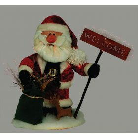 DIAKOSMITIKOS SANTA CLAUS WITH OPTICAL FIBER 40cm