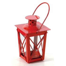 Red Metallic Lantern Garden 13 (h) cm