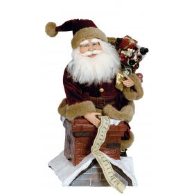 LOUTRINOS DIAKOSMITIKOS SANTA CLAUS WITH MUSIC AND MOVEMENT,50cm