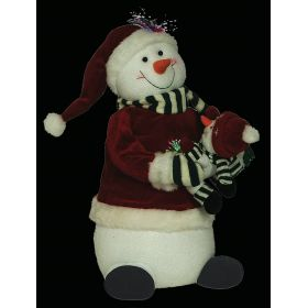 DIAKOSMITIKOS SNOWMAN WITH MUSIC AND MOVEMENT 43cm