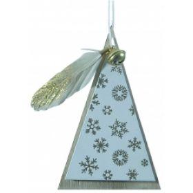 Ξύλινο Κρεμαστό Χριστουγεννιάτικο Στολίδι Δεντράκι 6 x 10(Η)cm