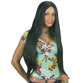 Μάυρη Αποκριάτικη Περούκα 75cm