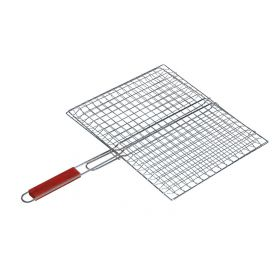 Stainless Steel Grate With Wooden Handle, 27 x 33 x 57cm