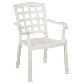 White Plastic Stackable chair Pasha