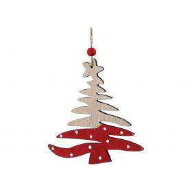 Ξύλινο Κρεμαστό Χριστουγεννιάτικο Στολίδι 12 x 12(h)cm