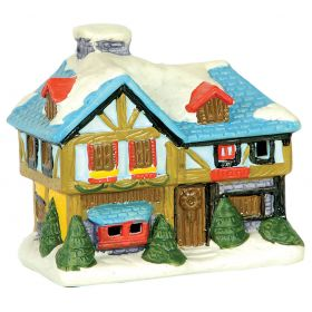 clay CHRISTMAS CANDLE HOUSE 9 (h) cm