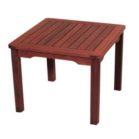 Stable side table Coffee Table 50 x 50 x 40 (H) cm,Red Shorea