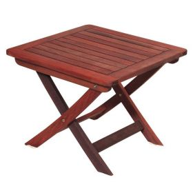 Folding Utility Table Coffee Table 50 x 50 x 40 (H) cm,Red Shorea