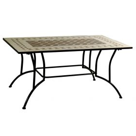 Parallelogram Metal Table Mosaic 120 x 80cm