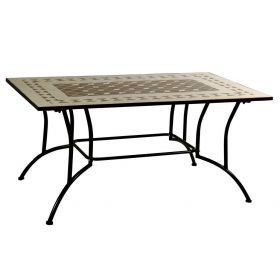 Parallelogram Metal Table Mosaic 172 x 100cm