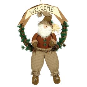PLUSH MEDALLION SANTA CLAUS DECORATION 53 x 83 (h) cm