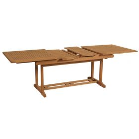 parallelograms Extending table Acacia,170 + 30 + 30 = 230 x 90 x 75 (H) cm