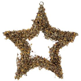 HANGING METAL CHRISTMAS STAR 15cm