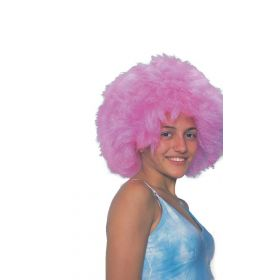 Ρόζ Αποκριάτικη Περούκα Μικρή Αφάνα