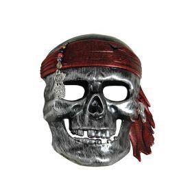 Ασημί Αποκριάτικη Μάσκα Πειρατή