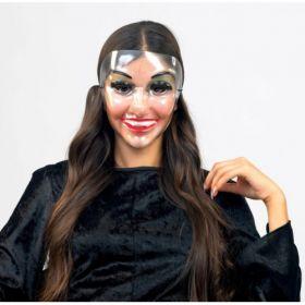 Διάφανη Αποκριάτικη Μάσκα Προσώπου