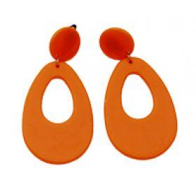 Πορτοκαλί Αποκριάτικα Σκουλαρίκια Οβάλ