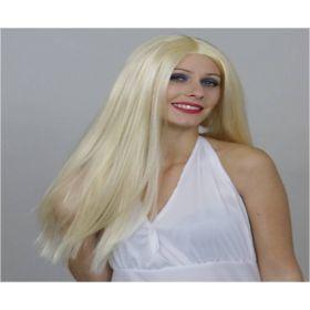 Ξανθιά Μακριά Αποκριάτικη Περούκα