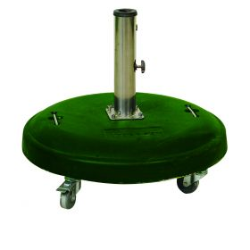 Πράσινη Τσιμεντένια Βάση Ομπρέλας 50Kgr , ⌀ 60cm ,Με Ροδάκια Και Φρένο