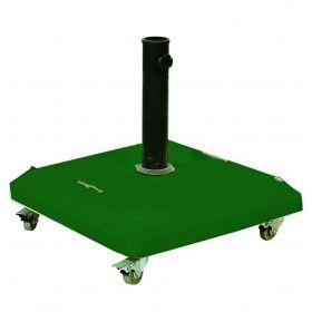 Πράσινη Τσιμεντένια Βάση Ομπρέλας 37Kgr ,Με Ρόδες
