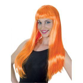 Πορτοκαλί Αποκριάτικη Περούκα Λόλα (24